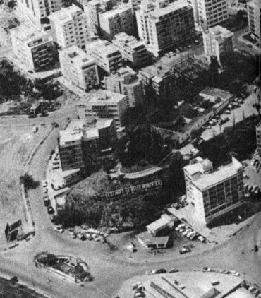 Vista aérea donde se ubicaba el colegio Colinas hoy Centro Polo