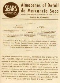 Sears de Colinas de Bello Monte. Propaganda